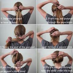 Hair tutorial: inverted bun
