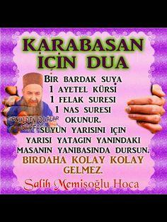KARABASAN İÇİN DUA Islamic Dua, Islam Quran, Allah, Diy And Crafts, Prayers, Words, Instagram Posts, Borderlands, Jun