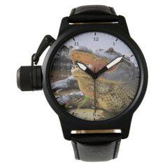 #customized - #Alligator Wrist Watch