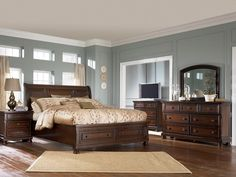 Master bedroom color scheme.