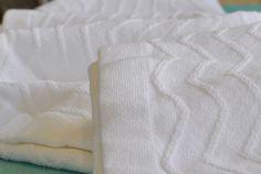 Ringspun Cotton Wave Blanket - White