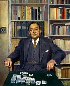 T.S.Eliot, 1962, by Sir Gerald Kelly (1879-1972). National Portrait Gallery, Washington, DC.