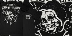 """""""TNO- Bad Bones"""" t-shirt design by Craig Robson"""