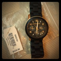 Michael Kors Black & Gold Watch Worn, but in GREAT shape. Michael Kors Accessories Watches
