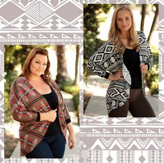 Aztec print cardi from Be Inspired Boutique #inspiredbyyou