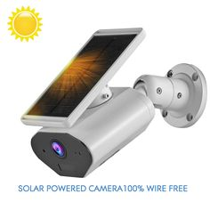 CTVISON Outdoor Solar Powered WiFi Wireless Home Security Camera,Rechargeable Waterproof,Works with Alexa Wireless Home Security Cameras, Wireless Video Camera, Wireless Home Security Systems, Security Alarm, Solar Camera, Ip Camera, Solar Panel Battery, Home Defense, Surveillance System