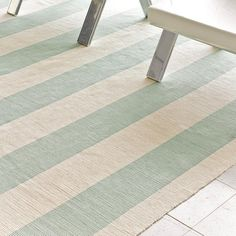 Wide Stripe Flat Weave Rug: 5 Colors. I love this one!