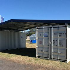Shipping Container Home Designs, Container House Design, Shipping Containers, Building A Container Home, Container Buildings, Garage Roof, Garage House, Trim Paint Color, Roof Trim