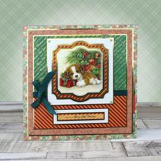 Card created using Hunkydory Crafts' Santa Paws 2 at Christmas Craft Stack