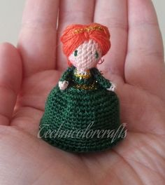Mini Crocheted Topsy Turvy Doll (Fiona)