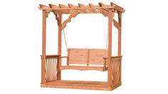 Cedar Pergola Swing:  front yard, between the two oaks facing curve of driveway. No floor or railings