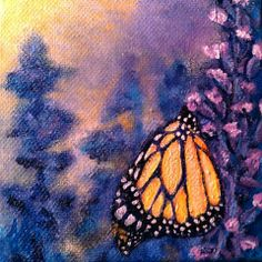 """""""Blueberry Lemonade"""" Acrylic on stretched canvas. © 2013 Julie Joaquin."""