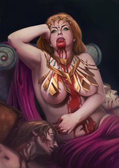 Whoa. That took a while. I was inspired by and her 7 sins long time ago, and just recently decided to paint my own series. So, meet Gluttony. I wanted to add some kind of fresh touch to the depicti...