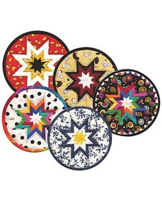Folded Star Round Hot Pad Sewing Pattern CD