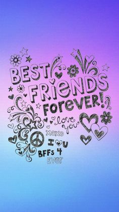 Best Friends - Best Quality Wallpapers for Your Phones Best Friends Forever Images, Best Friend Images, Best Friend Love, Best Friend Quotes, Best Friend Sketches, Friends Sketch, Best Friend Drawings, Friendship Pictures, Happy Friendship