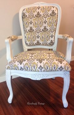 French Provincial Chair by RavishinglyVintageCo on Etsy