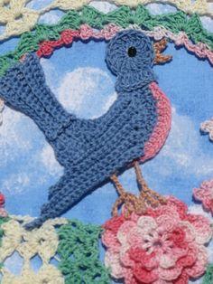 PDF Crochet Pattern Blue Birds of Happiness Doily