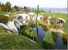 "Built on the ingenious designs of architects from Vetch Company Switzerland, this little habitat made of tiny but very comfortable houses share an eco friendly secret: the grass rooftops. These green roofs can at any time become little private gardens where people grow their organic tomatoes, and this roofing system is what actually makes these homes seem ""hidden""."