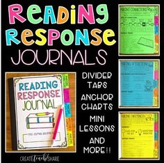 Reading Response Journals are the perfect place for students to respond to novels that are read aloud in the classroom.