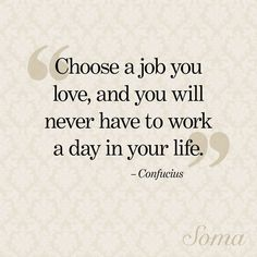 a job you love...