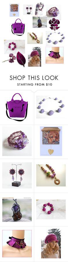 """Purple and fuchsia"" by dorota-kujawa ❤ liked on Polyvore"