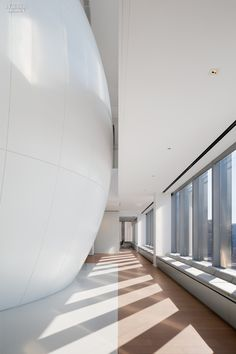 Commercial Interiors. NYC Office with a James Turrell installation. Designers: Lee Mindel and A+I.