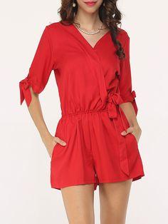 #AdoreWe #FashionMia Rompers - FashionMia Basic Plain Modern Rompers - AdoreWe.com