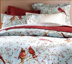 I'm not sure it's necessary to have holiday sheets but if I did I would have these Cardinal ones from Pottery Barn