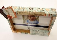 Love all the quotes on this darling embellished frame.