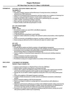 Lpn Resume Cv Outline Post Date Summary Free Format Letter