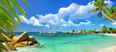 Seychelles Island Tropical Panorama Full Wall Mural Photo Wallpaper Home Deco Family Beach Pictures, Scenery Pictures, Best Nature Wallpapers, Desktop Wallpapers, Beach Picture Outfits, Seychelles Islands, Praslin Seychelles, Seychelles Beach, Taj Mahal