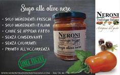 Sugo con olive nere... #neronitradizioneitaliana #madeinitaly #ciboitaliano #trasformazione #creme #patè #sughi #vegan