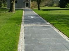 The original black limestone fades to this and has a slightly less smooth finish.