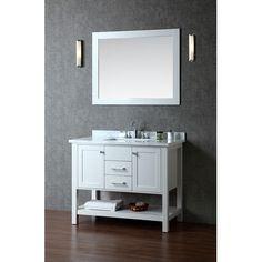 "Ariel Bath Bayhill 42"" Single Bathroom Vanity Set with Mirror"
