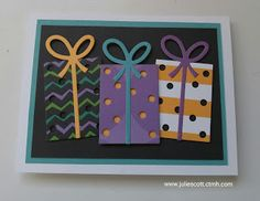 Food, Crafts, and More!  Close to My Heart Jeepers Creepers.  Gift Thin Cuts.  Birthday Card.  www.juliescott.ctmh.com
