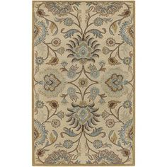 @Overstock - An elegant Oriental design highlights this hand-tufted wool rug. This area rug features shades of beige, gold, light blue, kerry blue, light brown, mocha brown, ivory and grey.http://www.overstock.com/Home-Garden/Hand-tufted-Coliseum-Beige-Wool-Rug/4118643/product.html?CID=214117 $46.99