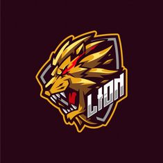 Lion mascot logo Vectors, Photos and PSD files Logo Gamer, Gaming Logo, Logo Esport, Art Logo, Logo Lion, Shiva Tattoo Design, Lion Vector, Lion Illustration, Team Logo Design