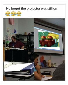 projector was still on