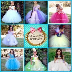 Ultimate Princess Dress Up Collection Ball Gown Tutu Dress. Cinderella, Rapunzel, Aurora, Sofia, Snow White, Jasmine, Tiana, Pocahontas