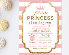 Hey I Found This Really Awesome Etsy Listing At Httpswwwetsy - Pink and gold baby shower invitations template