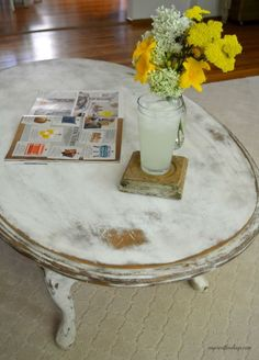 country white distressed oval coffee tablesusieewes on etsy