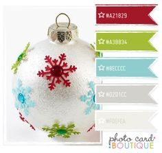 I like this palette from Photo Card Boutique, wonder if it would look good with a mossy green instead of the bright?