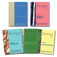 The QuietMind Series    The Quiet Mind- Photo-Based Therapeutic Activities for Anxiety, ADD/ADHD, Grief, Self-Esteem and Addictions  • For Children, Teens and Adults  • Easy and Ready To Use Activities  • Includes Book and CD  • Scientifically Developed and Tested