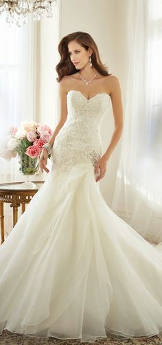The back of this dress is beautiful Sophia Tolli 2015 Bridal Collection | bellethemagazine.com
