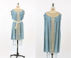 20s Dress Flapper Small / 1920s Vintage Blue Silk Lace Dress / The Lovebird Dress by CrushVintage on Etsy https://www.etsy.com/listing/279173666/20s-dress-flapper-small-1920s-vintage