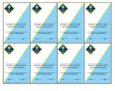 Cards for Belt Loops | Scouts - Cub Scouts | Pinterest | Other ...