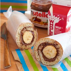 Drop the mic on grab-and-go breakfast this week by simply rolling a banana in pancakes spread with Nutella®. Congrats, parent of the year award goes to you.