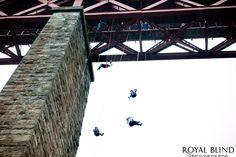 165ft Royal Blind Forth Rail Bridge Abseil South Queensferry June 2012