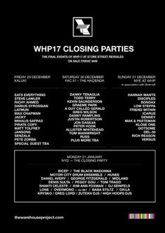 #housemusic The Warehouse Project 2017 Closing Parties Revealed: Following a stand-out first month of events, Manchester's clubbing…