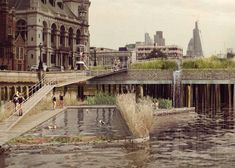 Swimming pools for the River Thames in central London by Studio Octopi